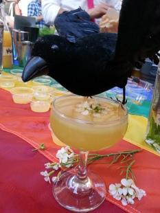 A Blackbird hovers over the Blackbird/Hecho collaboration, April 2015.