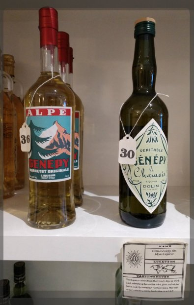 Note Chamois bottle and Alpes shelf tag, Alchemy